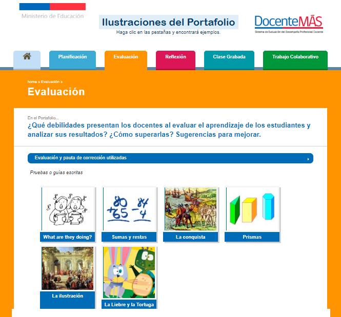 Ejemplos Portafolio evaluación docente